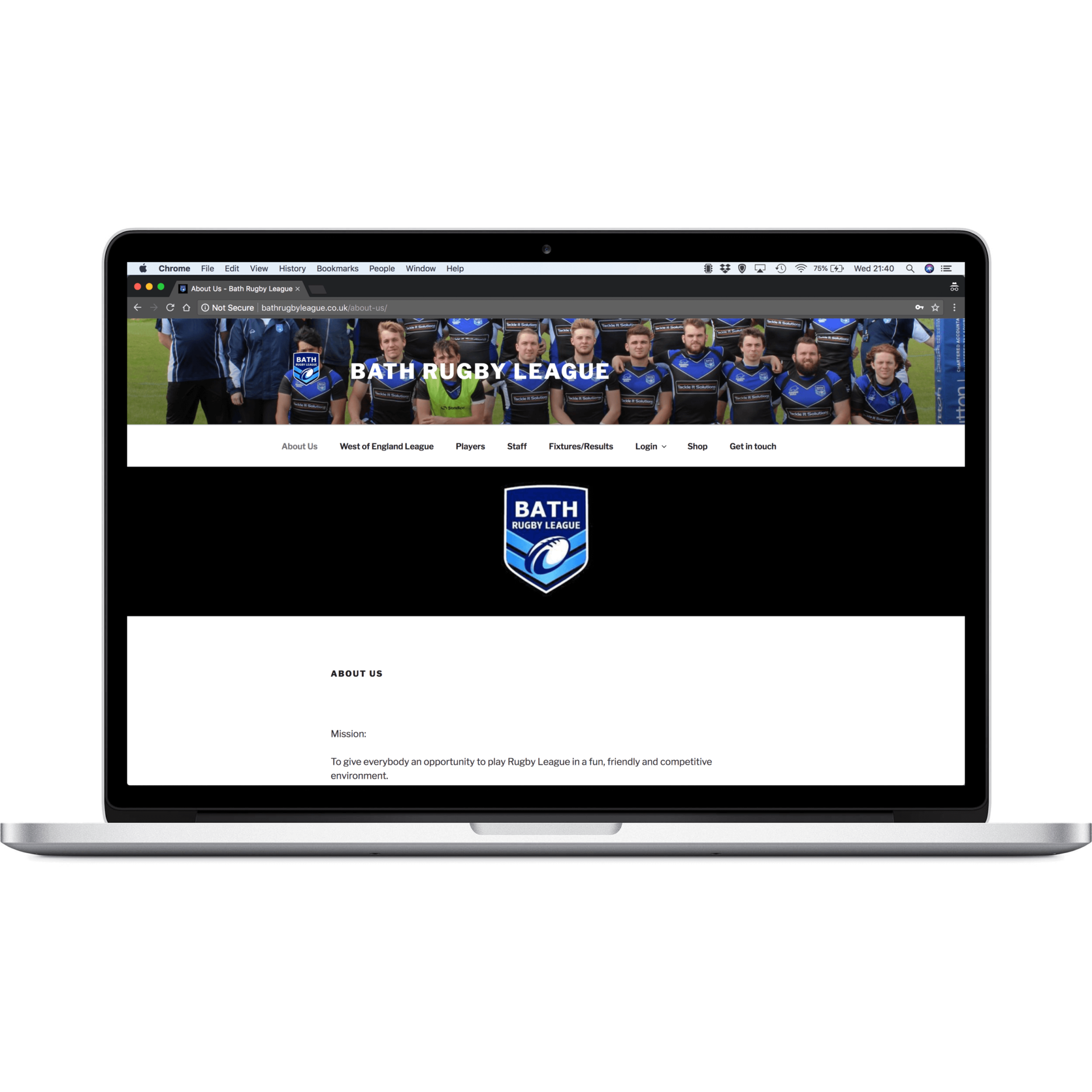 Bath Rugby League Website