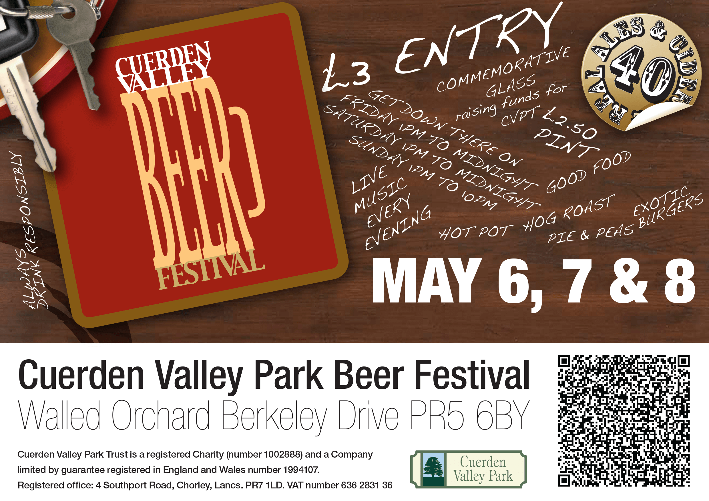 Cuerden Valley Park Beer Festival 2010 Flier