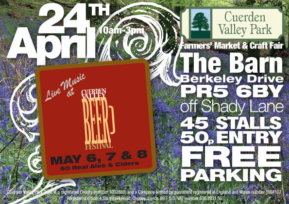 Cuerden Valley Park Farmers Market and Craft Fair April 24 Flier