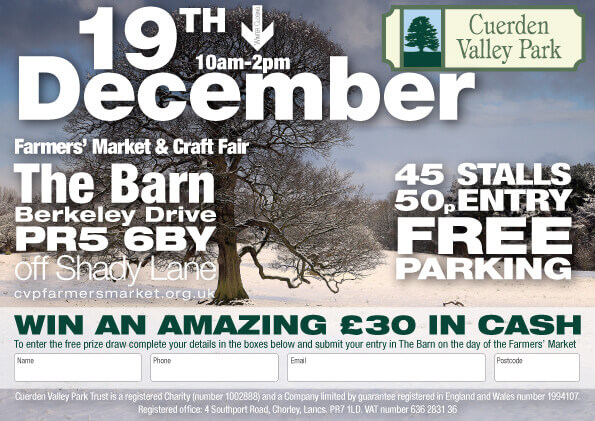 Cuerden Valley Park Farmers Market and Craft Fair December 19