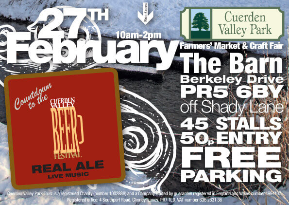 Cuerden Valley Park Farmers Market and Craft Fair February 27 Flier