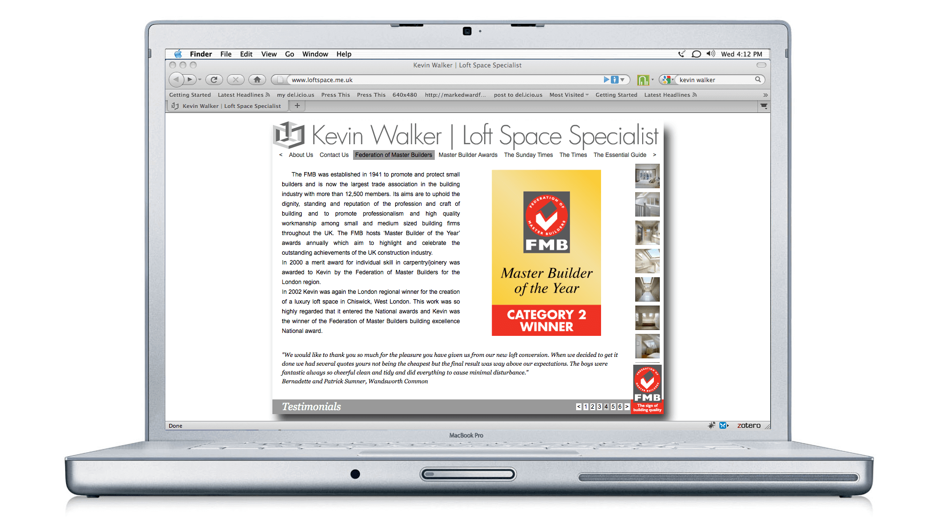 Kevin Walker Loft Space Specialist Website