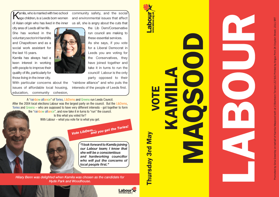 Labour Kamila Maqsood Front