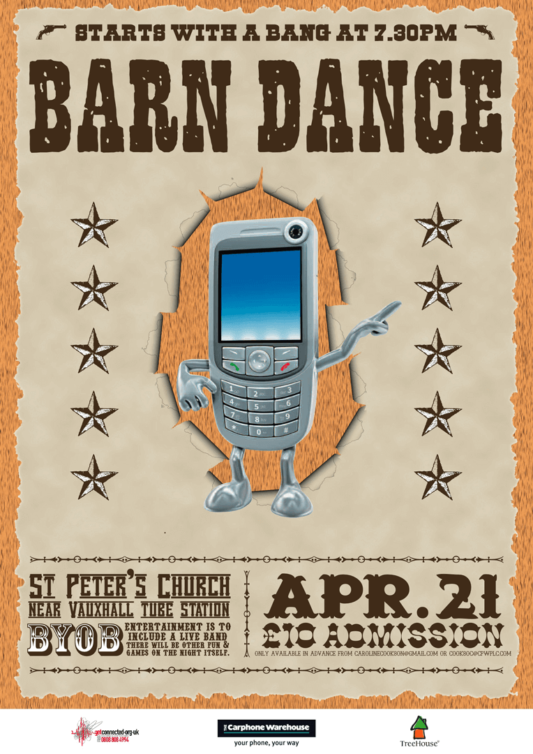 The Carphone Warehouse Charity Barn Dance Poster
